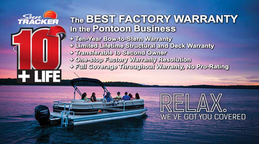 SUN TRACKER Pontoon Warranty Banner